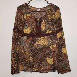 Xhilararion women's long sleeve top size L